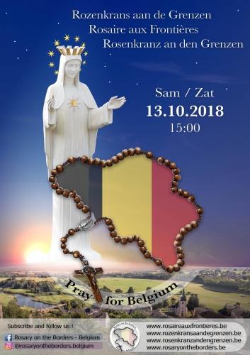 13 octobre 2018 à 15H00: Prier le rosaire aux frontières pour la Belgique