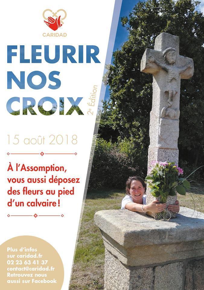 "Association Caridad – Opération ""Fleurir nos croix"" le 15 août 2018!"