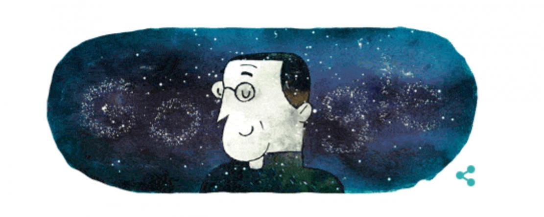 """L'abbé Lemaître, père du """"Big Bang"""" mis à l'honneur par Google"""