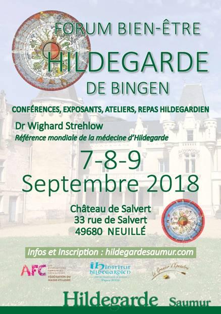 Forum Bien-être Hildegarde de Bingen les 7, 8 & 9 septembre 2018 à Neuillé (49)