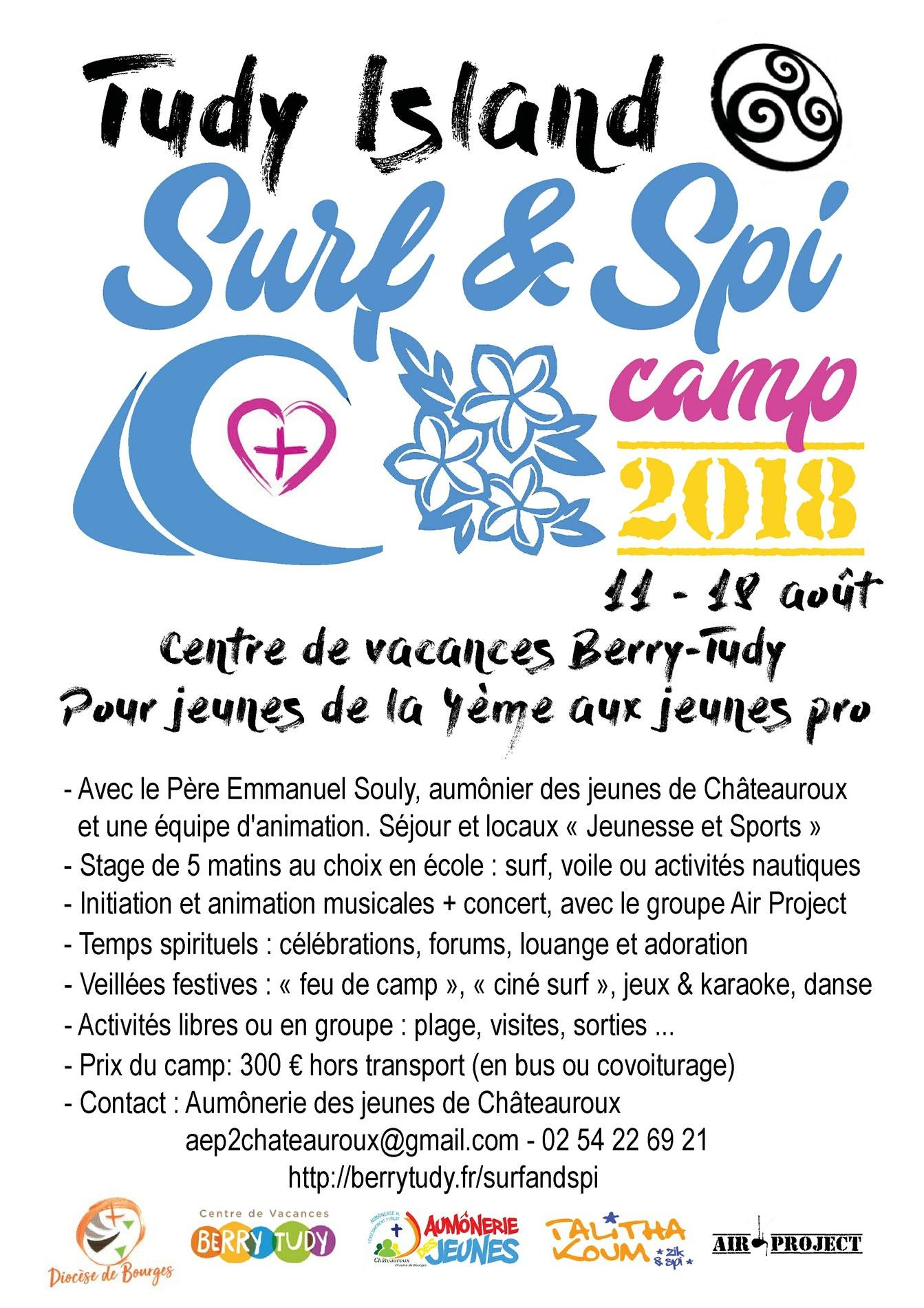 Tudy Island – Surf and Spi – camp de vacances du 11 au 18 août 2018 à l'Île-Tudy (29)