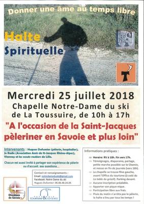 Halte spirituelle le 25 juillet 2018 à La Toussuire (73)