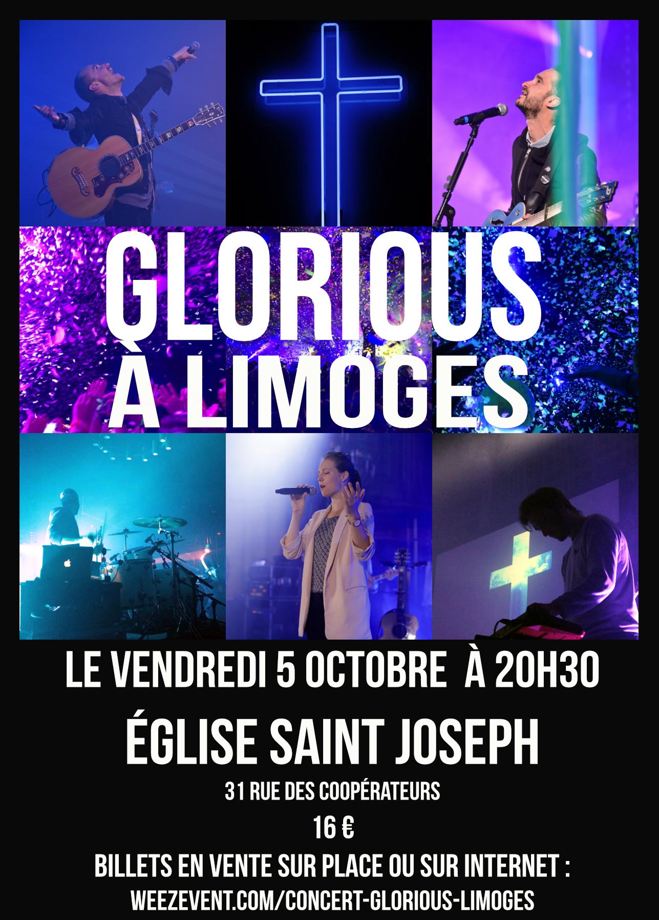 Concert de Glorious à Limoges (87) le 5 octobre 2018