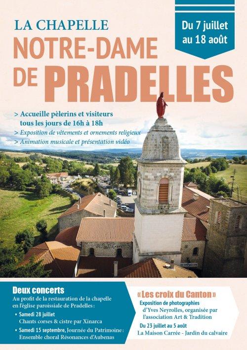 Animations d'été à Pradelles (43) du 7 juillet au 18 août 2018