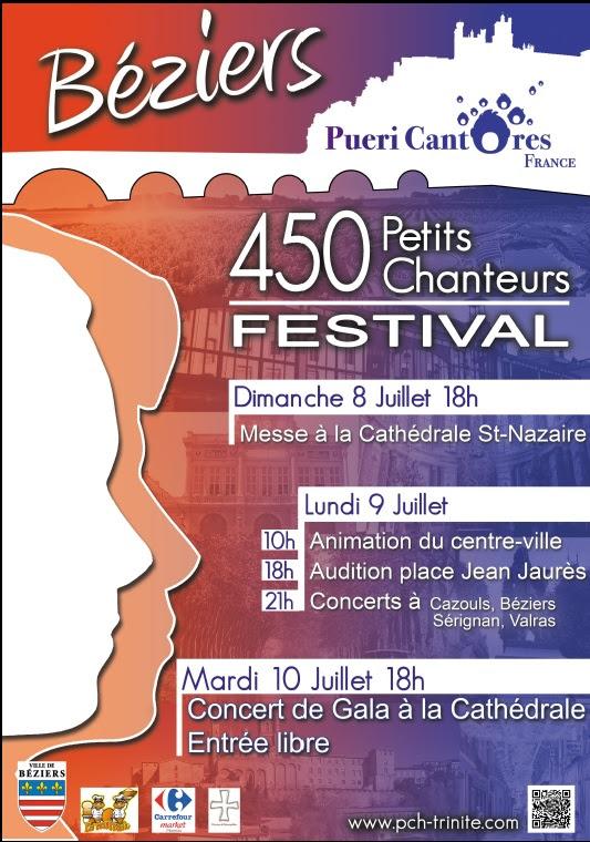 Rassemblement national de choeurs d'enfants du 8 au 11 juillet 2018 à Béziers (34)