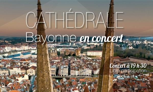 Concert (orgue et trompette) à la cathédrale de Bayonne (64) le 11 août 2018