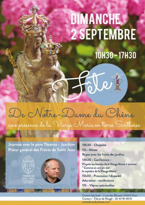 Fête de Notre Dame du Chêne – 2 septembre 2018 à Vion (72)