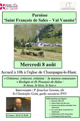 Halte spirituelle à Champagny le Haut (73) le 8 août 2018