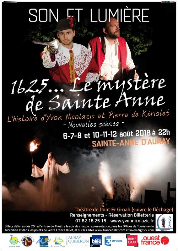 """Son & lumière – """"1625… Le mystère de Sainte Anne"""" du 6 au 12 août 2018 à  Sainte Anne d'Auray (56)"""