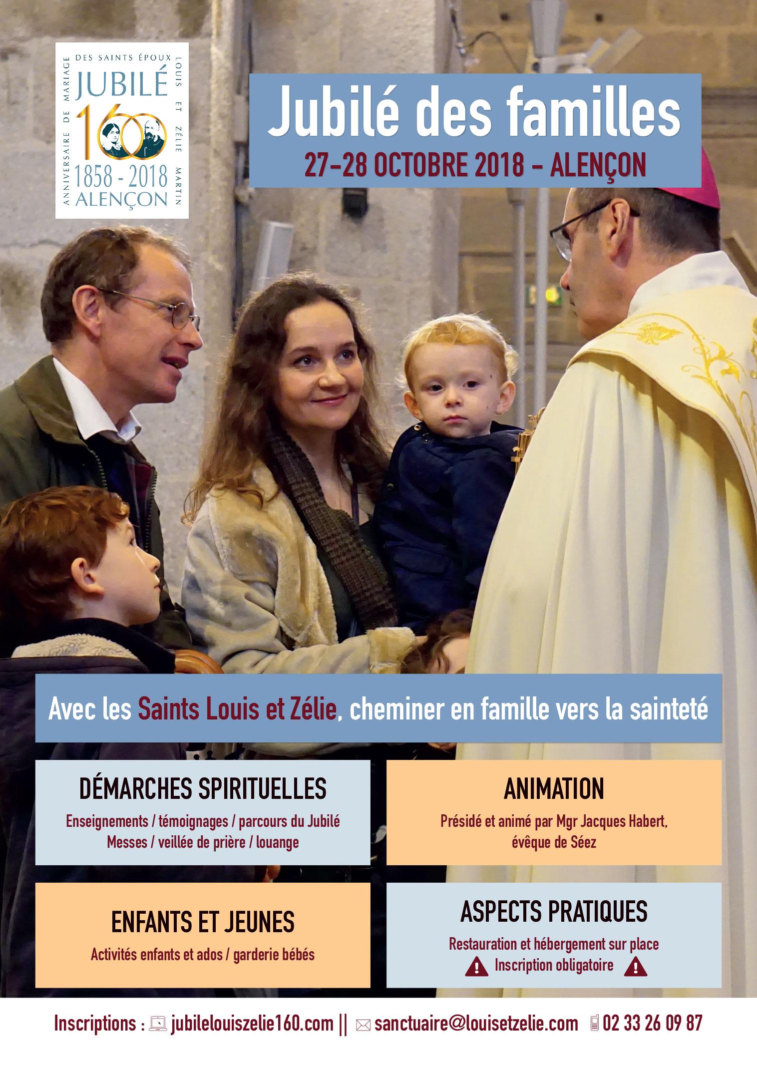 Jubilé des familles au sanctuaire d'Alençon (61) les 27 et 28 octobre 2018