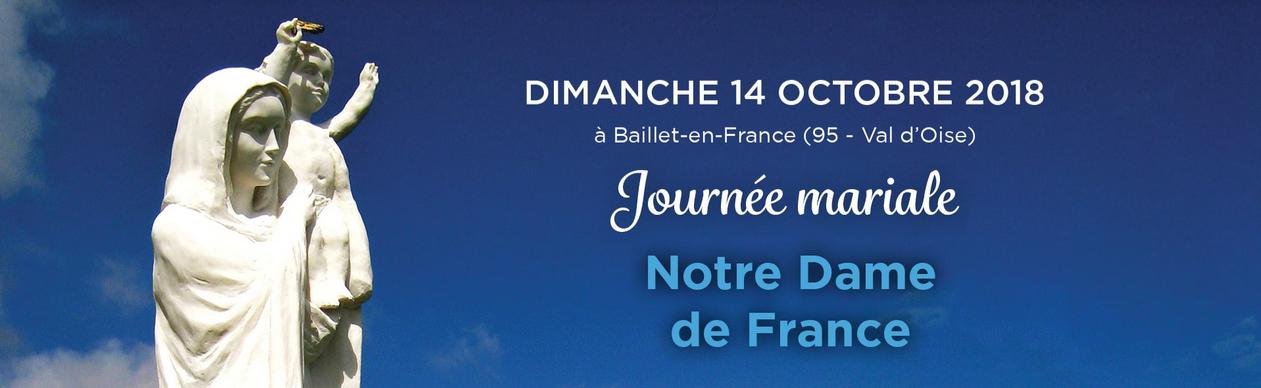 Bénédiction de la nouvelle chapelle de la confrérie Notre-Dame de France le 14 octobre 2018 à Baillet-en-France (95)