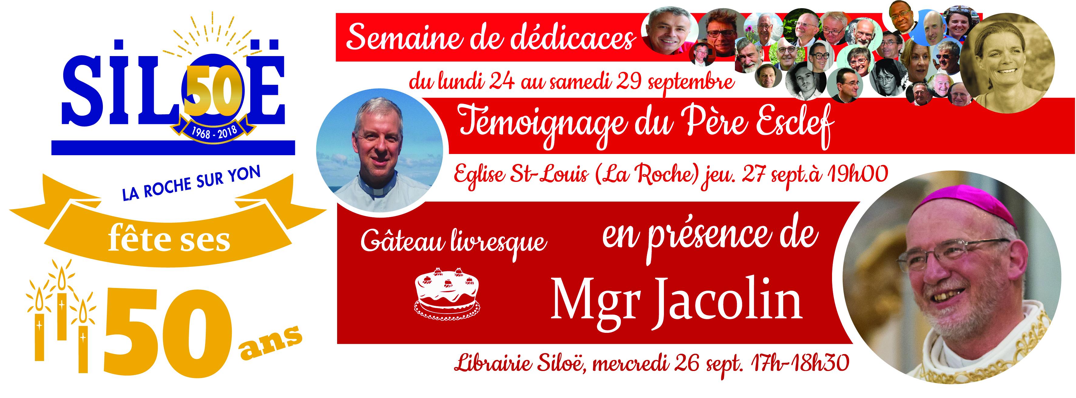 La librairie Siloë fête ses 50 ans! Jusqu'au 29 septembre 2018 à La-Roche-sur-Yon (85)