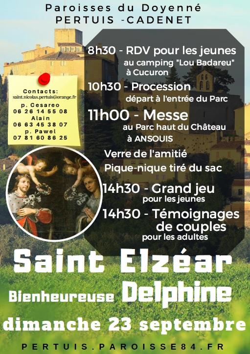 Fête de Saint Elzéar et Bienheureuse Delphine le 23 septembre 2018 à Cucuron-Ansouis (84)