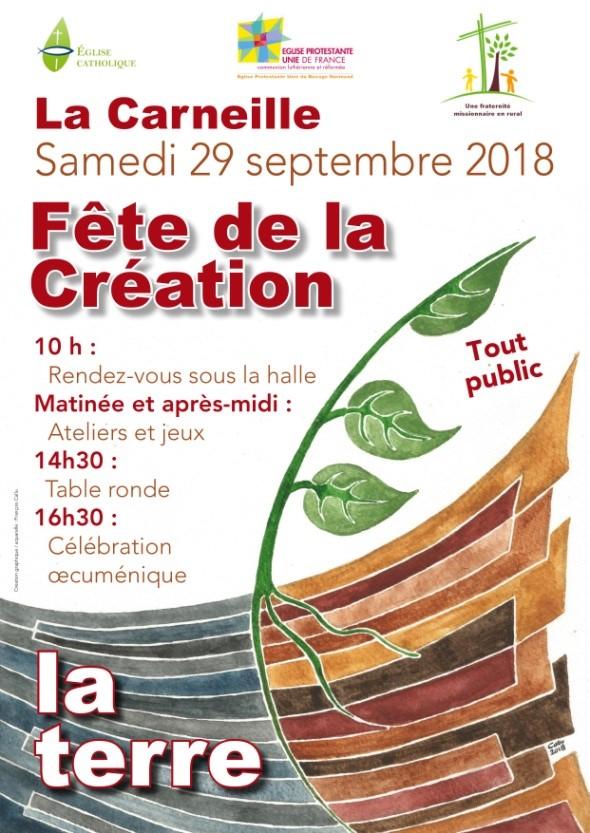 Fête de la création le 29 septembre 2018 à La Carneille (61)