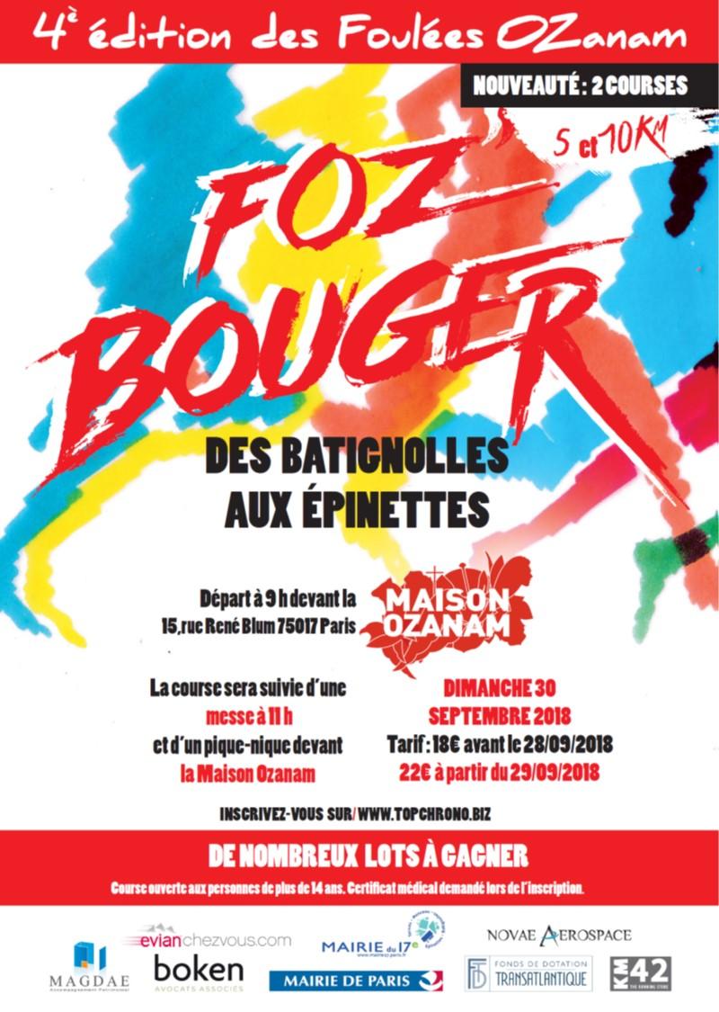 4e édition des Foulées Ozanam le 30 septembre 2018 à Paris