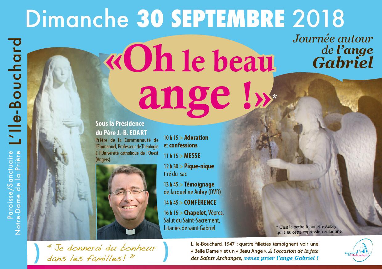 """Journée """"Oh le beau ange!"""" le 30 septembre 2018 au sanctuaire de L'Île-Bouchard (37)"""