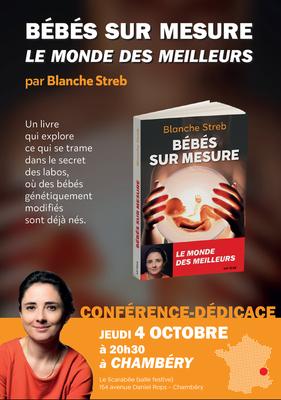 Conférence-dédicace de Blanche Streb le 4 octobre 2018 à Chambéry-le-Haut (73)