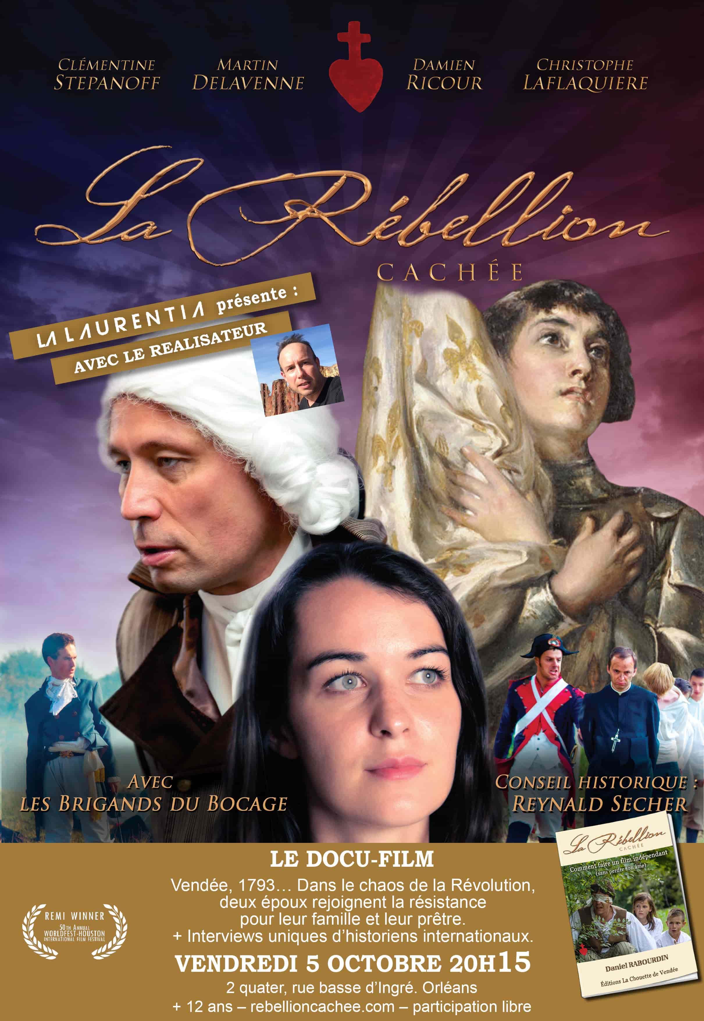 Projection du film La rébellion cachée en présence du réalisateur le 5 octobre 2018 à Orléans (45)