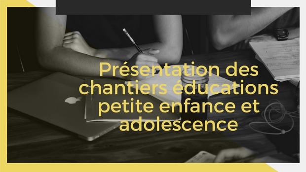Présentation des chantiers éducations petite enfance et adolescence organisée par les AFC le 5 septembre 2018 à Offranville (76)