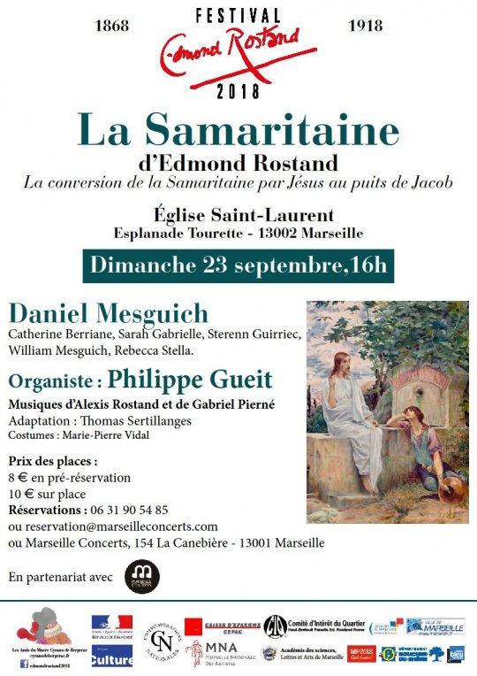 """Festival Edmond Rostand 2018: """"La Samaritaine"""" jouée à l'église Saint-Laurent à Marseille (13) le 23 septembre 2018"""