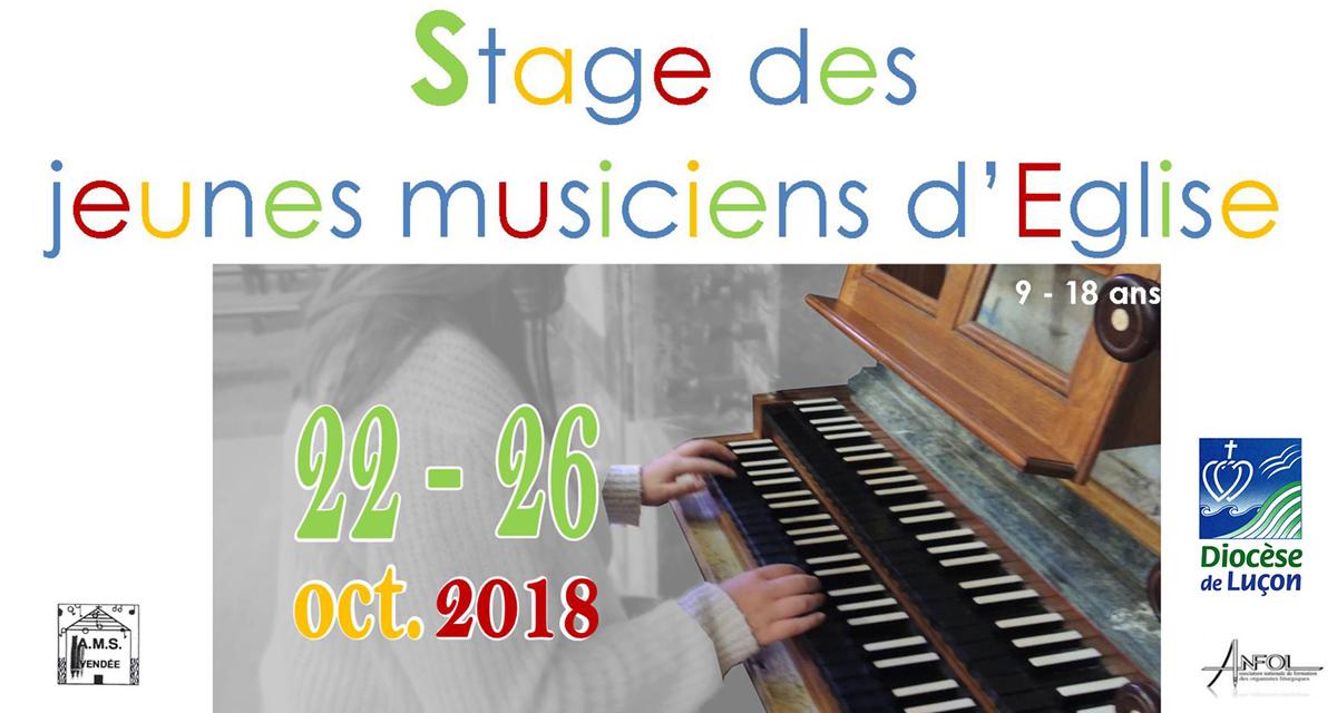 Stage des jeunes musiciens d'Eglise – 9-18 ans du 22 au 26 octobre 2018 à Chavagnes-en-Paillers (85)