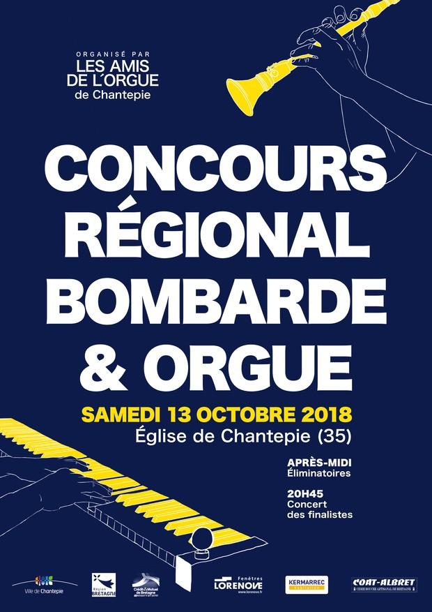 Concert final de la 5e édition du Concours Régional Bombarde et Orgue le 13 octobre 2018 à Chantepie (35)