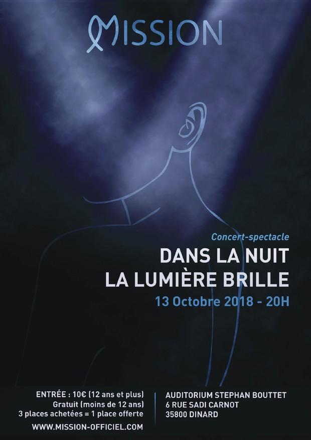 """Spectacle musical """"Dans la nuit la lumière brille"""" le 13 octobre 2018 à Dinard (35)"""