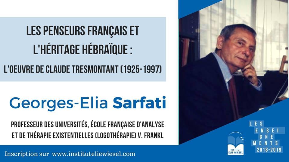 Cinq conférences sur Claude Tresmontant à Paris du 13 novembre au 12 décembre 2018