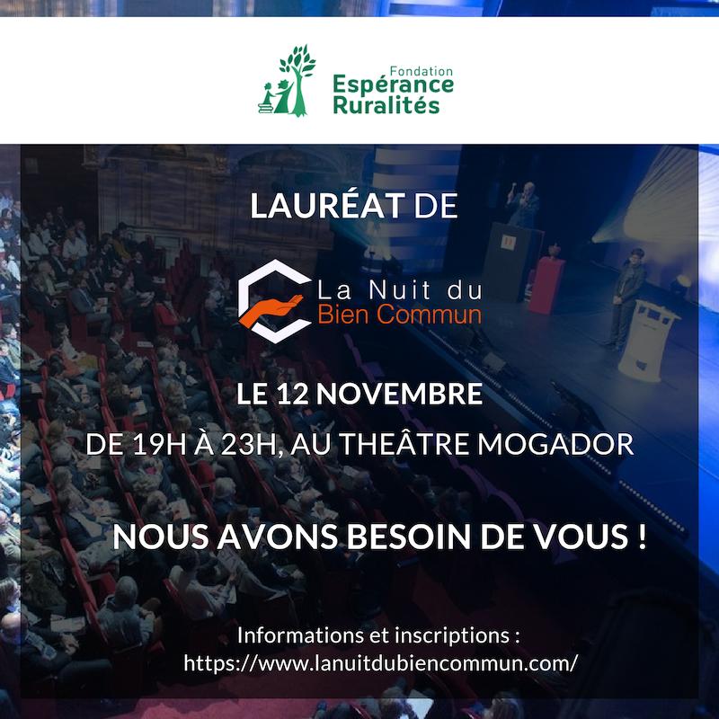 Présentation de la Fondation Espérance Ruralités le 12 novembre 2018 à Paris