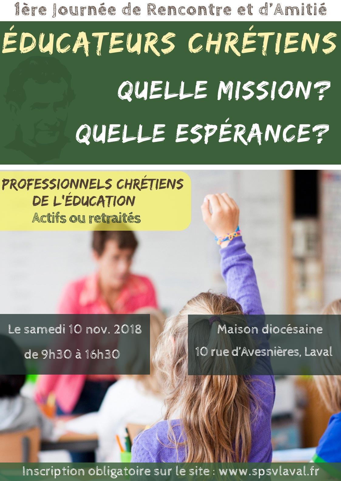 Rencontre spéciale éducateurs chrétiens le 10 novembre 2018 à Laval (53)