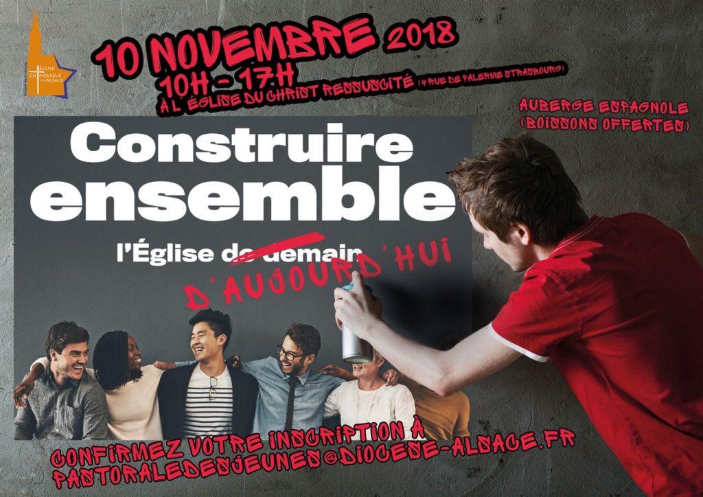 Un pré-synode pour les jeunes alsaciens le 10 novembre 2018 à Strasbourg (67)