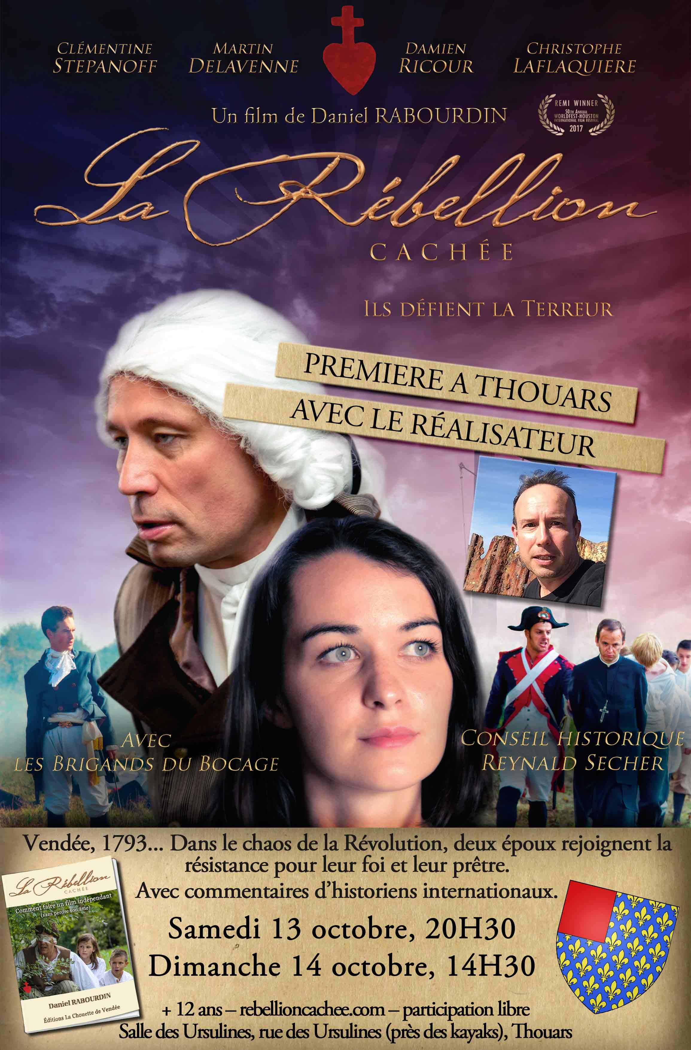 Projection du film La rébellion cachée en présence du réalisateur les 13 & 14 octobre 2018 à Thouars (79)