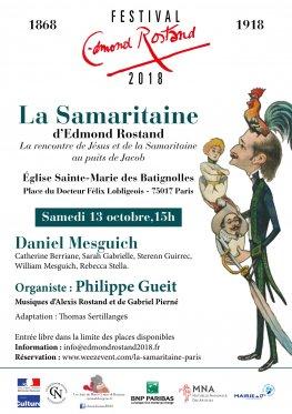 """Théâtre """"La Samaritaine"""" d'Edmond Rostand à Sainte-Marie des Batignolles (Paris) le 13 octobre 2018"""