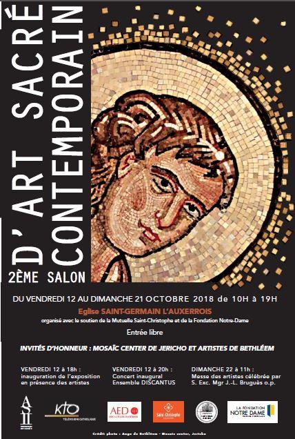 2ème Salon d'Art Sacré Contemporain à Paris du 12 au 21 octobre 2018