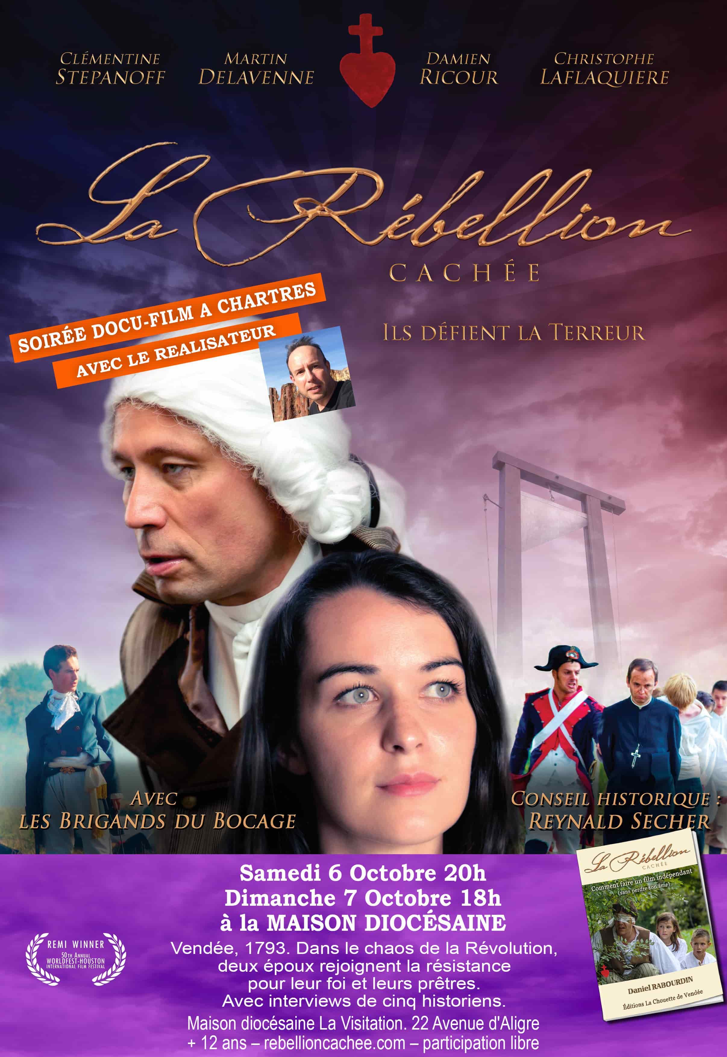Projection du film La rébellion cachée en présence du réalisateur les 6 & 7 octobre 2018 à Chartres (28)