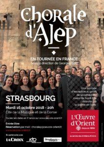 Concert exceptionnel de la chorale Naregatsi d'Alep le 16 octobre 2018 à Strasbourg (67)