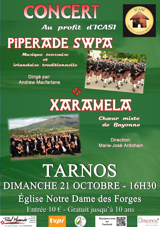 XARAMELA et PIPERADE SWPA en concert à Tarnos (40) le 21 octobre 2018