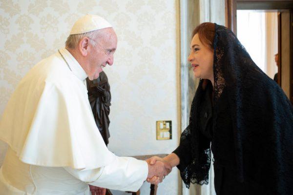 Le pape François reçoit la présidente de l'assemblée générale de l'ONU