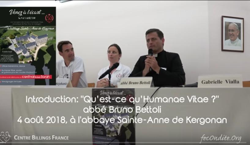 Qu'est ce qu'Humanae Vitae? par l'abbé Bruno Bettoli