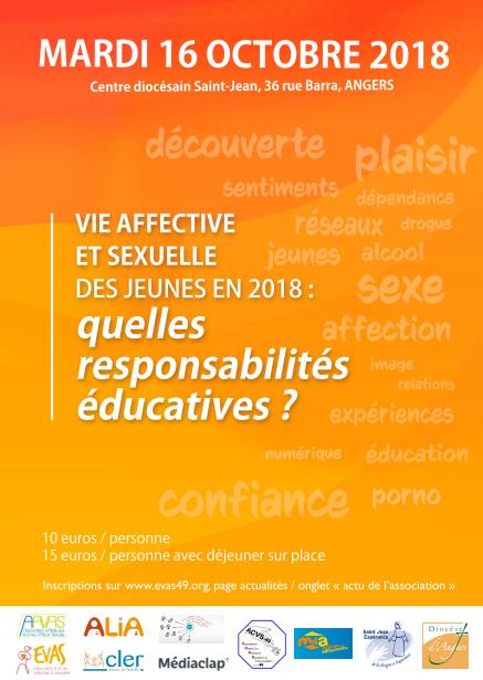 Les jeunes, Internet et la vie affective et sexuelle: se former pour mieux accompagner – le 16 octobre 2018 à Angers (49)