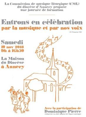 Entrer en célébration «Par la musique et par nos voix» le 10 novembre 2018 à Annecy (74)