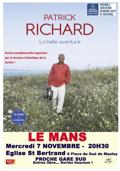 Patrick Richard – 30 ans de chansons – 7 novembre 2018 au Mans (72)