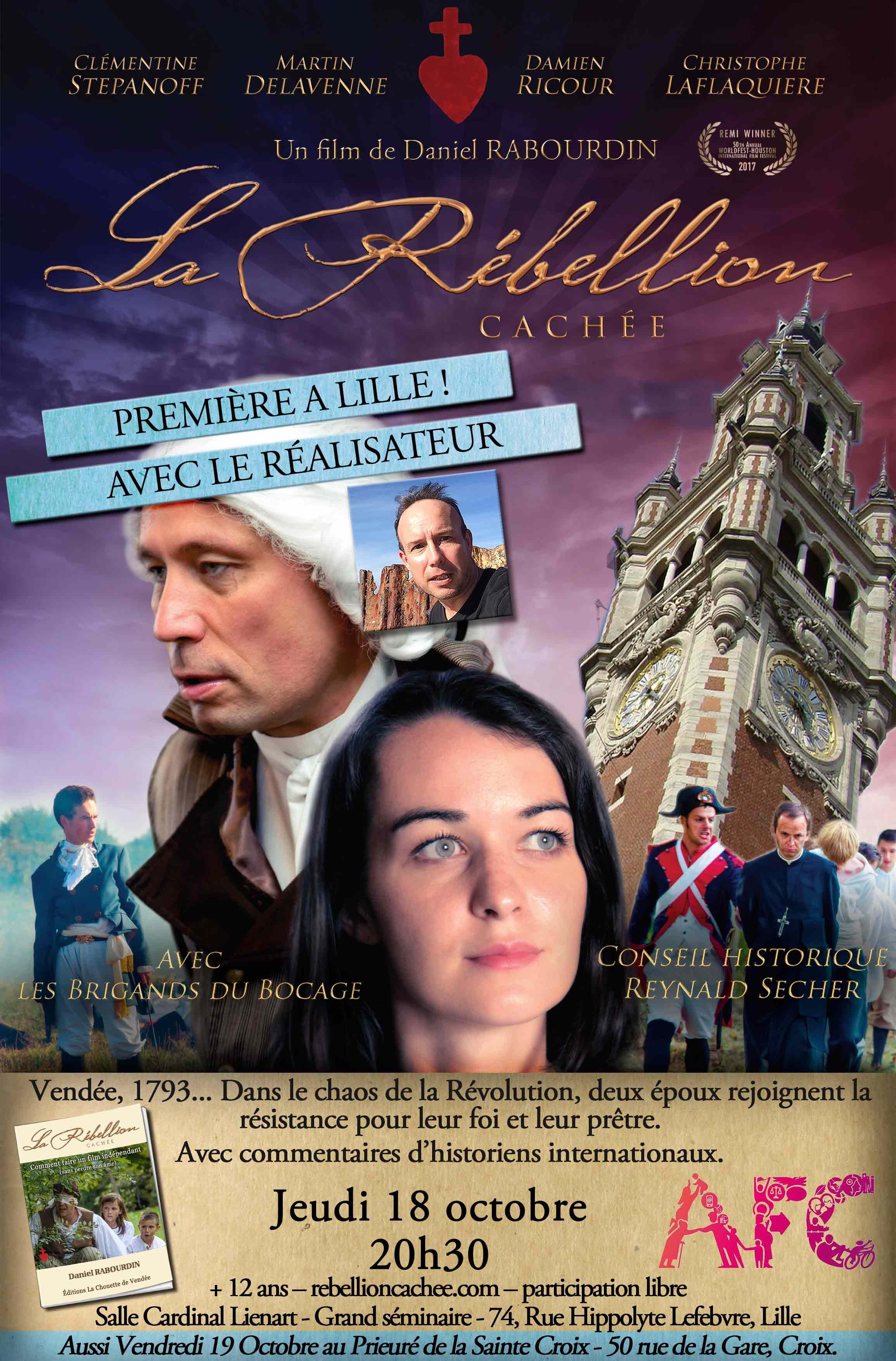 Projection du film La rébellion cachée en présence du réalisateur le 18 octobre 2018 à Lille (59)