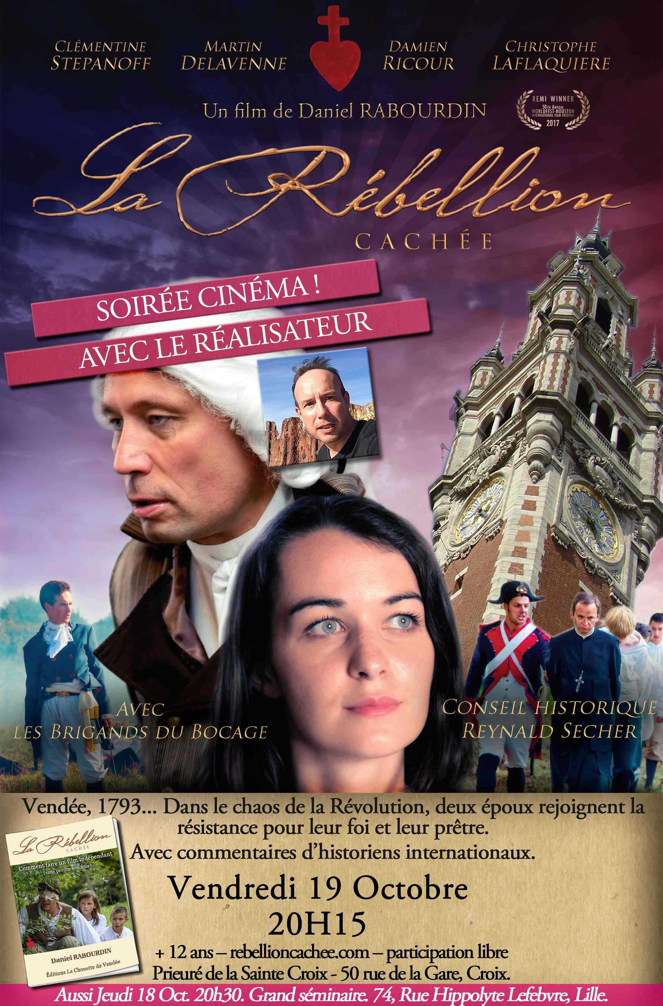 Projection du film La rébellion cachée en présence du réalisateur le 19 octobre 2018 à Croix (59)