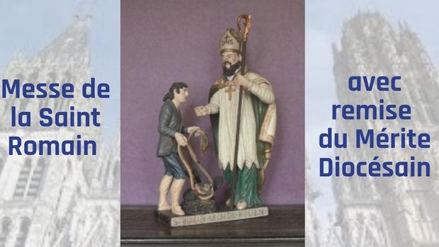 Messe de la Saint-Romain avec remise du Mérite Diocésain le 21 octobre 2018 à Rouen (76)