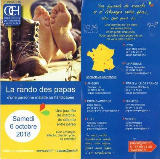 Journée des papas d'une personne malade ou handicapée à La Sainte-Baume (83) le 6 octobre 2018