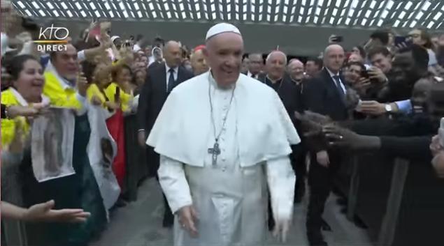 Synode des jeunes: rencontre du pape François avec les jeunes