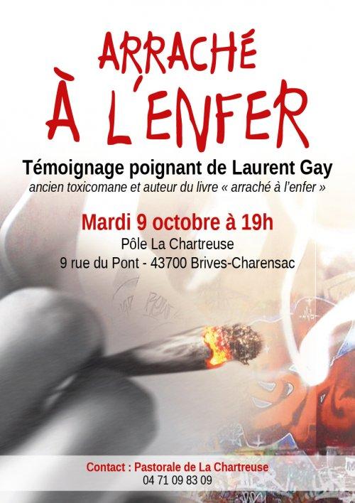Conférence-témoignage de Laurent Gay le 9 octobre 2018 à Brives-Charensac (43)