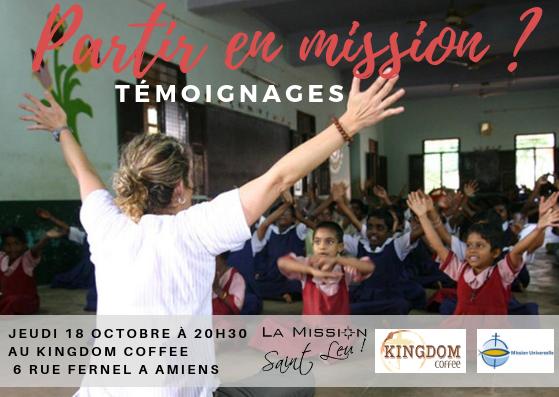 Partir en mission? Témoignages le 18 octobre 2018 à Amiens (80)