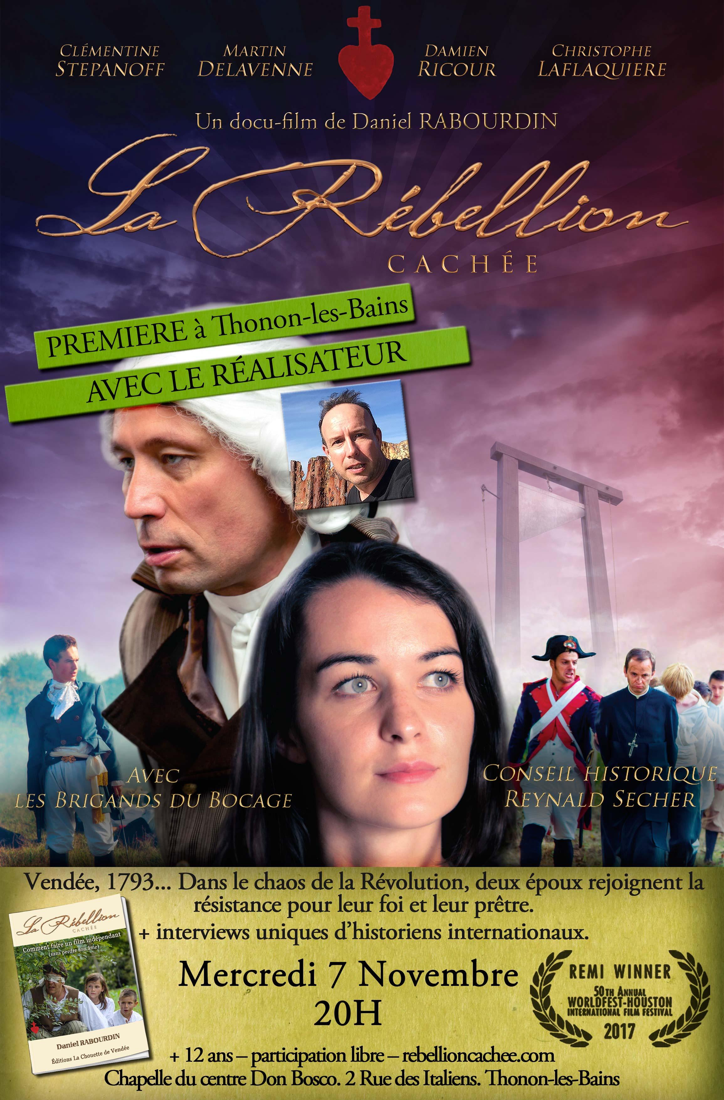 Projection du film La rébellion cachée en présence du réalisateur le 7 novembre 2018 à Thonon-les-Bains (74)